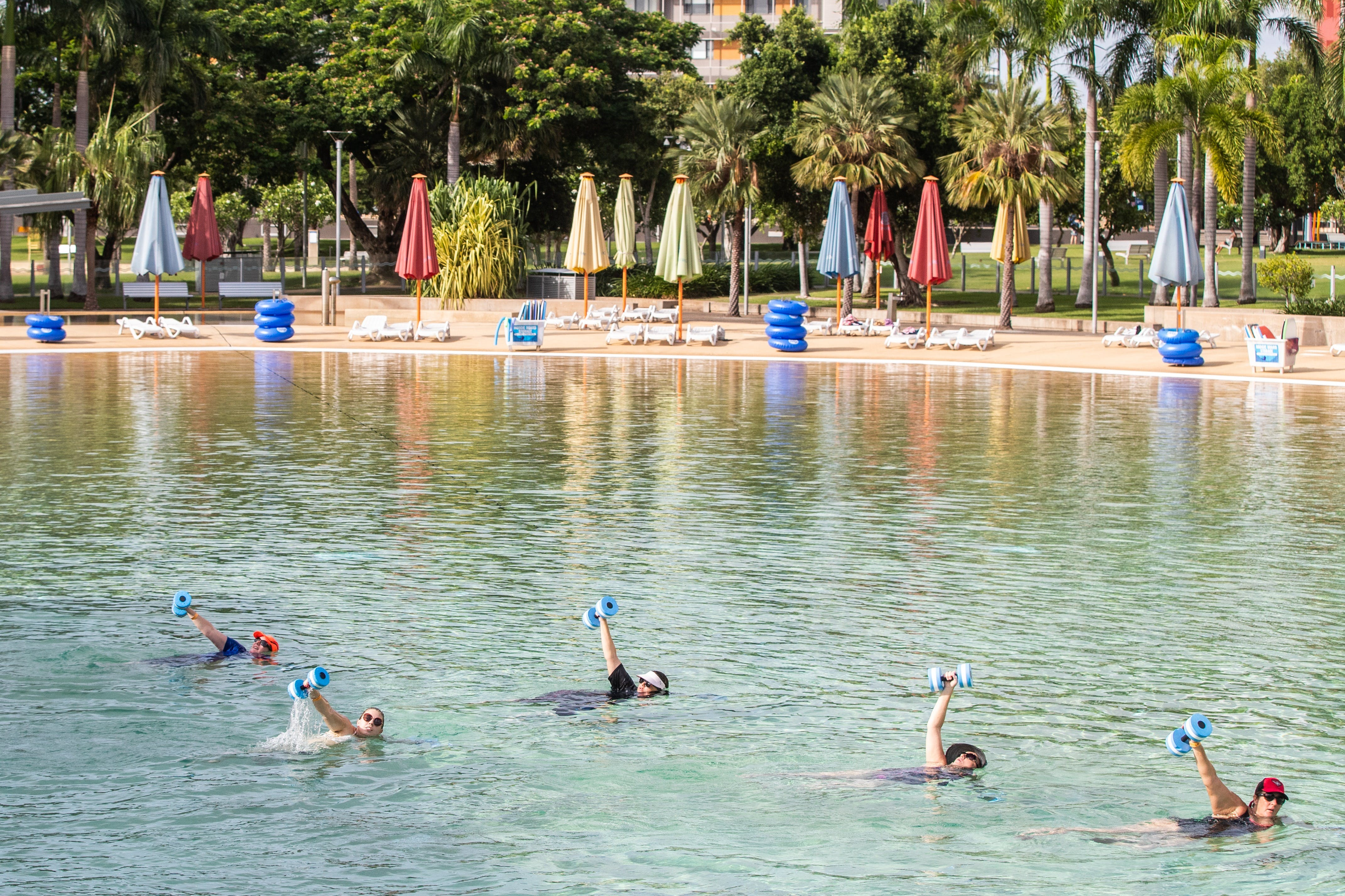 Aqua fitness in the Wave Lagoon - Accommodation Newcastle