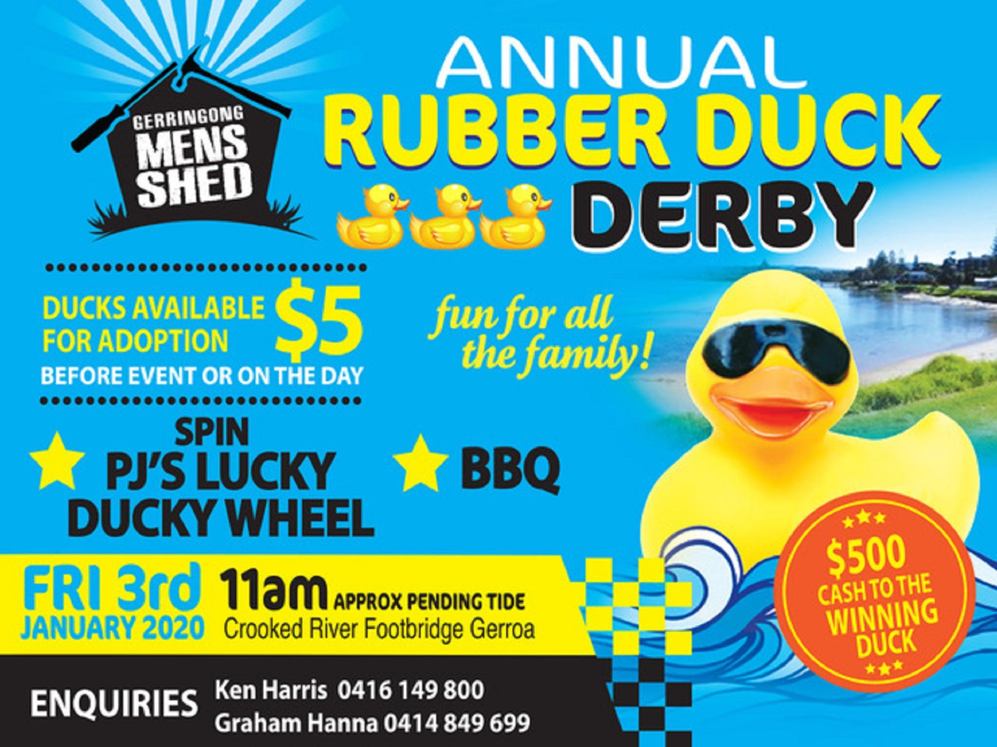 Gerringong Mens Shed Annual Duck Derby - Accommodation Newcastle