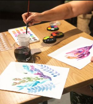 Paint and Sip Class Watercolour and Wine - Accommodation Newcastle